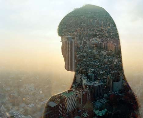 Photo Silhouettes Merges Cities and Civilians