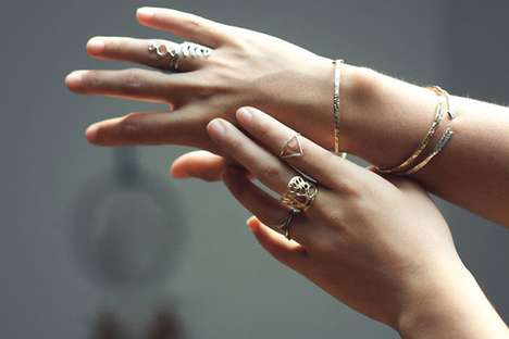 Organic Carved Jewelry - The Feminine Line by Odette Feels Natural and Delicate
