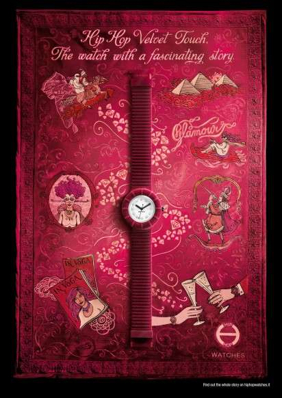 Plush Timepiece Ads