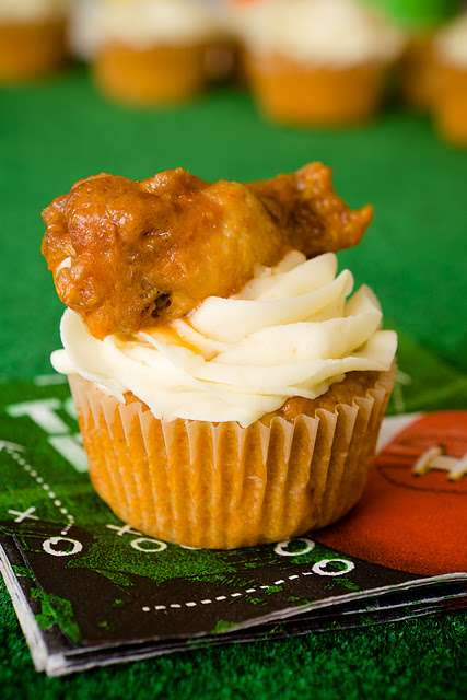 The Buffalo Chicken Cupcakes are the Perfect Game Time Snack