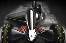 Low-Slung Concept Racers - The Citroen Maglev is Designed to Tear up the Track and the Sky