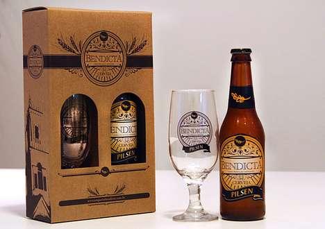 Pious Booze Branding