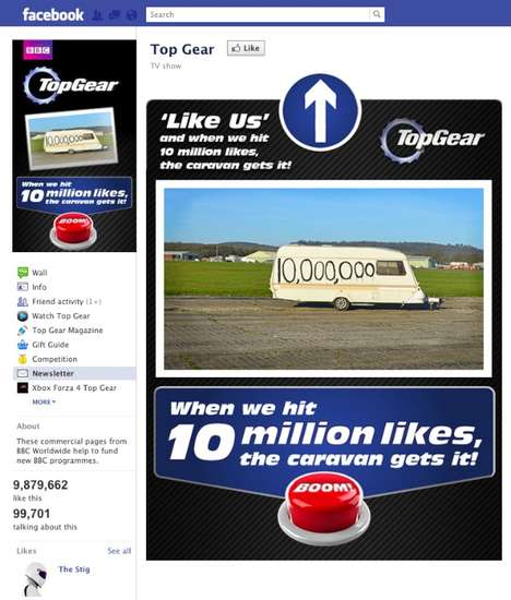 Caravan-Blowing Stunts - Top Gear Plans to Set an Auto Ablaze When They Hit Ten Million Likes