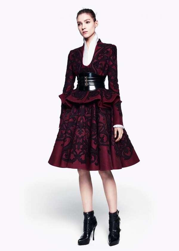 d7ccc8493194f Gothic Sheer Fashion : Alexander McQueen Pre-Fall 2012