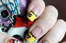 Magical Mouse Manicures - This 'Disney Babies' Nail Design is Bright and Bejewelled