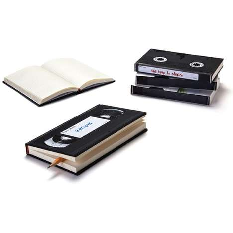 Mock VHS Memopads - The Peleg Designs Video Notebook is Made for Old-School Scribblers