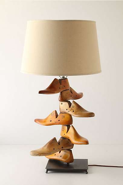 Stacked Shoe Lamps
