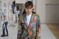 Elegant Psychedelic Attire - Dries Van Noten FW 2012 Collection Debuted at Paris Fashion Week
