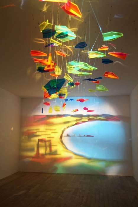 Rashad Alakbarov Beautifully Paints on Walls Using Light