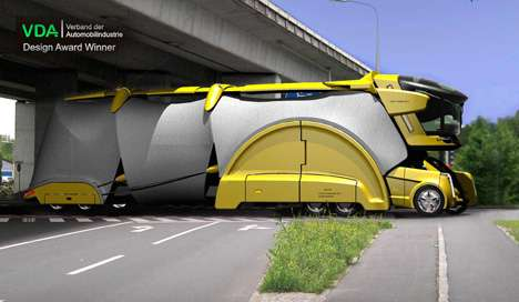 Design Mirrors Nature - The Chameleon Truck is a Centipede