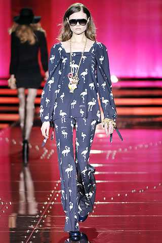 Flamingo Print Retro - Just Cavalli Fall
