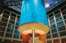 World's Largest Cylindrical Aquarium with Built-in Elevator
