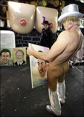 Penile Art - 'Pricasso' Paints Portraits With Penis