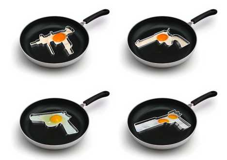 Gun Frying Pans - Over Easy Uzi