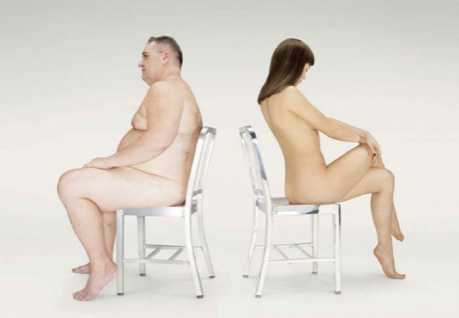 Nudevertising to Sell Chairs - Emeco