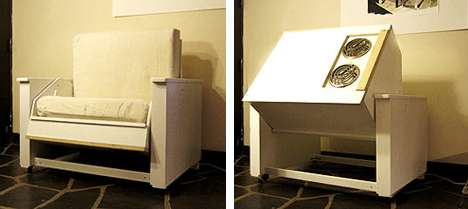 Transforming Furniture Stove Doubles As A Chair