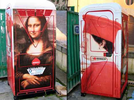 Milan's Portable Toilet Art