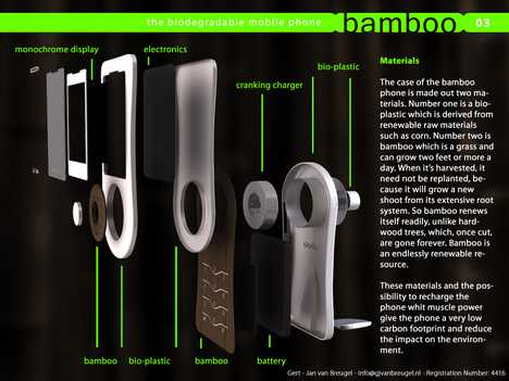 Biodegradable Cell Phone - Bamboo Phone Sprouts Seeds After Composting