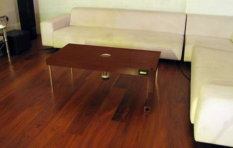 Rodent-Gobbling Furniture - The Mouse-Eating Coffee Table Lures Pests Efficiently
