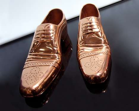 Cast Shoe by Tom Dixon Features Kicks Encased in Metals