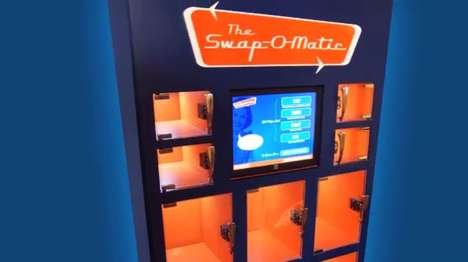 Bartering Vending Machines - The Swap-O-Matic Trades Products for Recyclable Materials