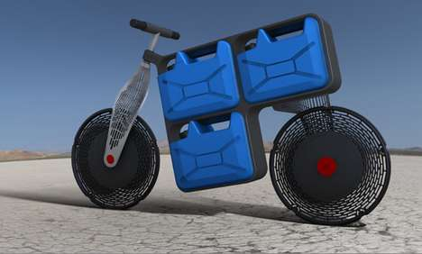 H2O-Transporting Two-Wheelers