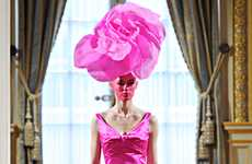 Fabulous Floral Headpieces - The Alexis Mabille Spring Haute Couture Collection is Rainbow Chic