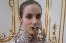 Fierce Facial Jewelry Shots - The Givenchy Spring Couture Collection is Gothic-Chic