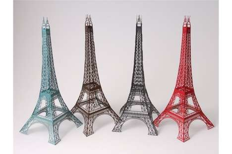 Laser-Cut Towers - The Eiffel Production Documents How These Designs Were Made