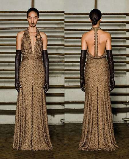 Resilient Metallic Gowns