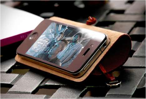 Arched Rawhide Smartphone Covers