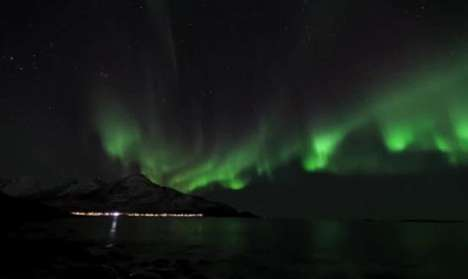 The Norway Flared Northern Lights are Shot Beautifully