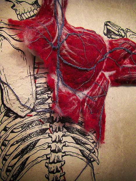 Felted Anatomy by Dan Beckemeyer Shows Anatomy