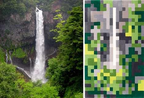 Pixelated Landscape Carpets