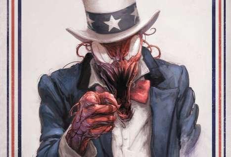 Patriotic Comic Book Ghouls