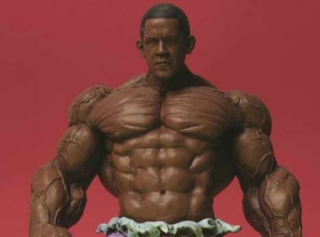 Presidential Superheros - America's Back by Ron English Features Obama as the Hulk