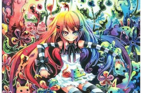 Rainbow-Hued Watercolor Anime