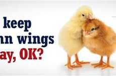 Activist Super Bowl Billboards - PETA Chicken Wings Ad Discourages Wing-Eating During Games