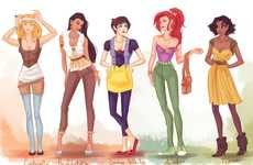 Hipster Princess Depictions