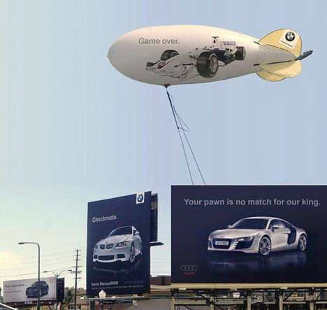 Billboard Auto Battles  - Audi vs. BMW Presents Aggressive Marketing Techniques