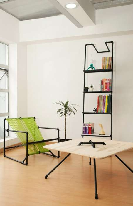 Industrial Pipe Furniture