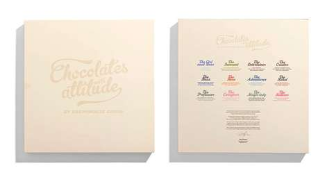 Pin-up Calendar Sweets - 'Chocolates with Attitude' by Brandhouse Feature Delicious Illustrastions
