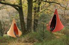 Avian Relaxation Pods - The Cacoon is a Combination Tent-Hammock Inspired by the Weaver Bird