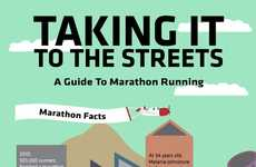 Long-Distance Running Infographics - Taking It to the Streets is a Guide to Marathon Running
