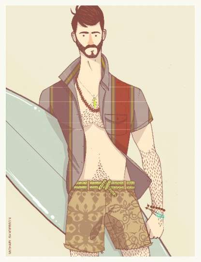 Illustrated Surfwear Lookbooks
