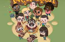 Comedy Cartoon Caricatures - Bill Mudron Imagines Parks & Rec Cast in Animal Crossing