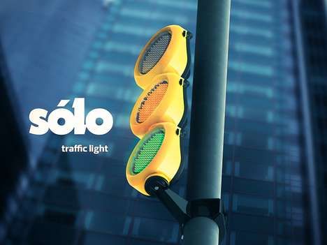 Modular Traffic Lights - The Sólo Signals Can be Disassembled to Serve Various Purposes