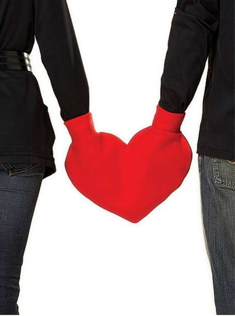 Cozy Companion Muffs - The I Sew Naked Heart-Shaped Mitten Keeps You and Your Loved One Warm