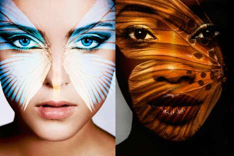 Butterfly Projection Portraits
