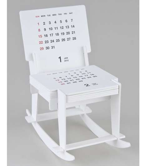 Rocking Date Trackers - The Furniture Piece by Katsumi Tamura is Also a Calendar